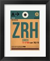 Framed ZRH Zurich Luggage Tag 1