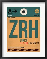 Framed ZRH Zurich Luggage Tag 1