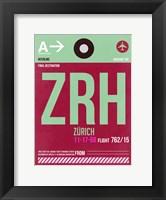 Framed ZRH Zurich Luggage Tag 2