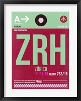 Framed ZRH Zurich Luggage Tag 2