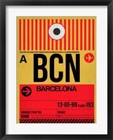 Framed BCN Barcelona Luggage Tag 1
