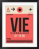 Framed VIE Vienna Luggage Tag 1