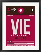Framed VIE Vienna Luggage Tag 2