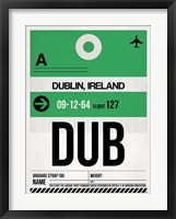 Framed DUB Dublin Luggage Tag 1