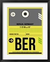 Framed BER Berlin Luggage Tag 1