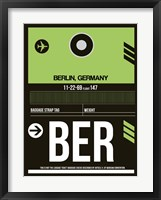 Framed BER Berlin Luggage Tag 2