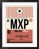 Framed MXP Milan Luggage Tag 1