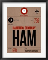 Framed HAM Hamburg Luggage Tag 1