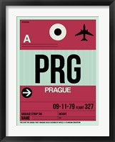 Framed PRG Prague Luggage Tag 2