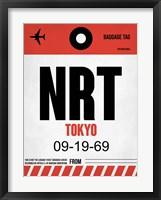 Framed NRT Tokyo Luggage Tag 1