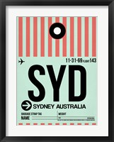 Framed SYD Sydney Luggage Tag 1