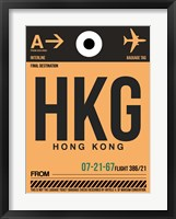Framed HKG Hog Kong Luggage Tag 2