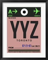 Framed YYZ Toronto Luggage Tag 2