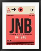 Framed JNB Johannesburg Luggage Tag 2