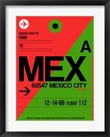 Framed MEX Mexico City Luggage Tag 2