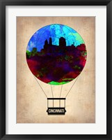 Framed Cincinnati  Air Balloon