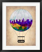 Framed Columbus Air Balloon