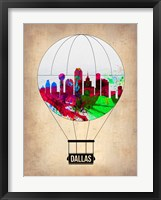 Framed Dallas Air Balloon