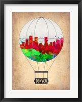 Framed Denver  Air Balloon