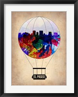 Framed El Paseo Air Balloon