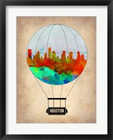 Framed Houston Air Balloon