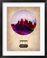 Framed Kansas Air Balloon