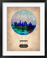Framed Los Angeles Air Balloon