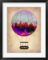 Framed Los Angeles Air Balloon 2
