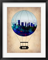 Framed Miami Air Balloon