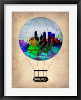 Framed Minneapolis Air Balloon