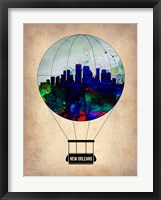 Framed New Orleans Air Balloon