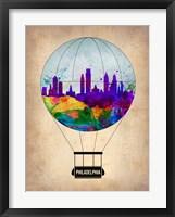 Framed Philadelphia Air Balloon