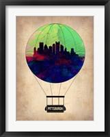 Framed Pittsburgh Air Balloon