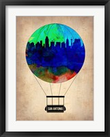 Framed San Antonio Air Balloon