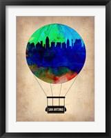 Framed San Antonio Air Balloon