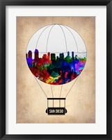 Framed San Diego Air Balloon