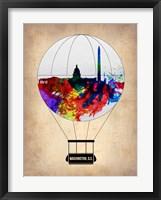 Framed Washington, D.C. Air Balloon