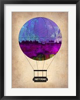 Framed Amsterdam Air Balloon
