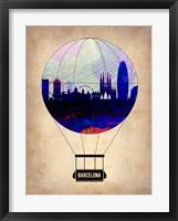 Framed Barcelona Air Balloon