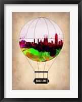 Framed Barcelona Air Balloon 2