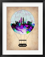 Framed Kuala Lumpur Air Balloon