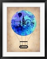 Framed London Air Balloon
