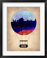 Framed Milan Air Balloon