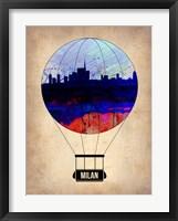 Framed Milan Air Balloon