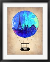Framed Paris Air Balloon