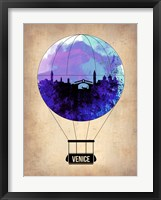 Framed Venice Air Balloon