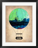 Framed Vienna Air Balloon