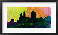 Framed Cincinnati City Skyline