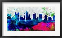 Framed Columbus City Skyline