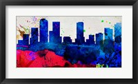Framed Denver City Skyline